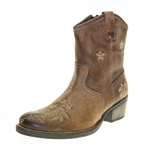 Botas de vaquero para mujer zapatos de piel de col... Oferta