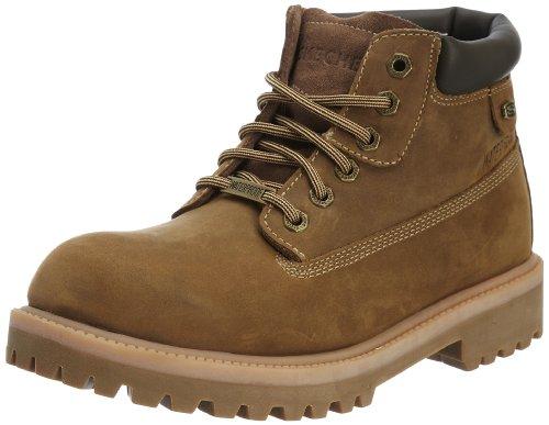 Botas de cuero nobuck para hombre, color marrón, talla 42. Saldo