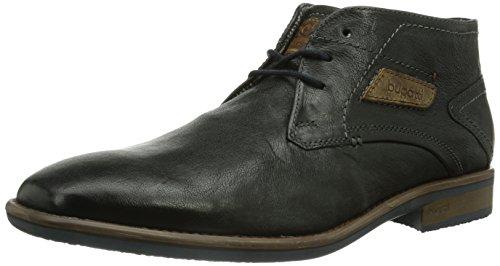 Botas de cuero hombre, color negro, talla 44 EU (9.5 Herren UK). Saldo