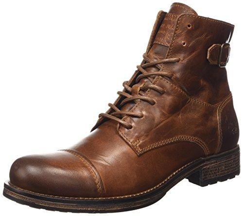 Botas de cuero hombre, color marrón, talla 41