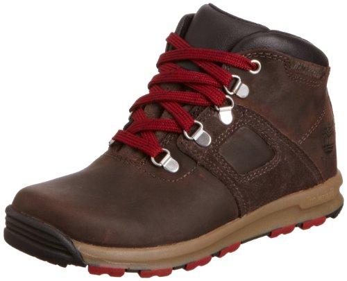 Botas Chukka de cuero niño, color marrón, talla 30 con descuento