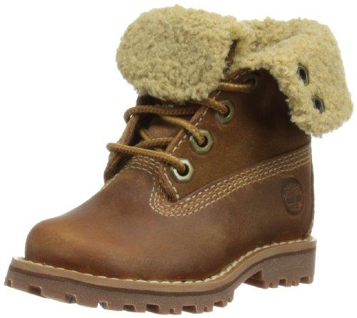 Botas de cuero para niña, color marrón, talla EU 36 (US 4)