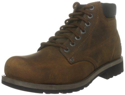Botas de cuero para hombre, color marrón, talla 42 con descuento