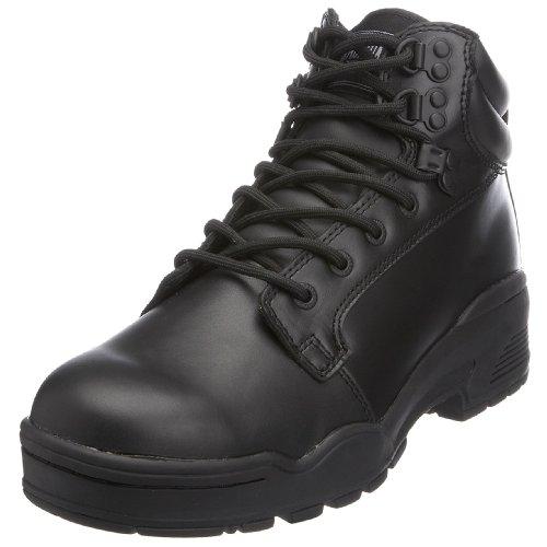 Botas de cuero unisex, color negro, talla 43. Oferta