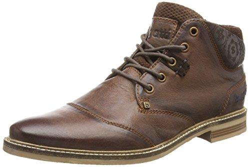 Botas de cuero para hombre marrón marrón (marrón oscuro 610) 43