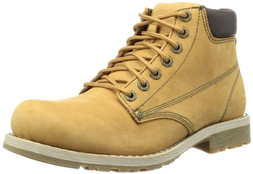 Botas de cuero para hombre, color marrón, talla 43. Oferta