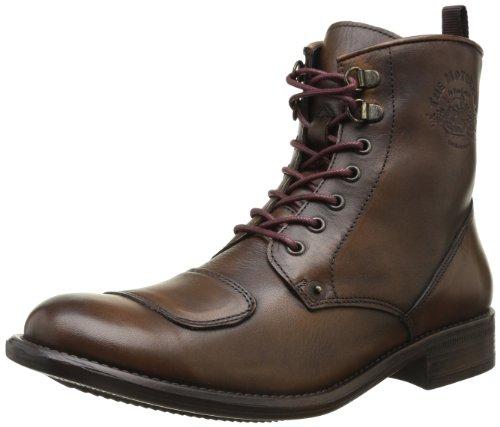 Botas de cuero para hombre, color marrón, talla 42. Saldo