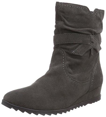 Botas de cuero mujer, color gris, talla 42. Ocasión