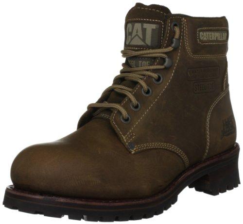 Botas de cuero para hombre, color marrón, talla 40