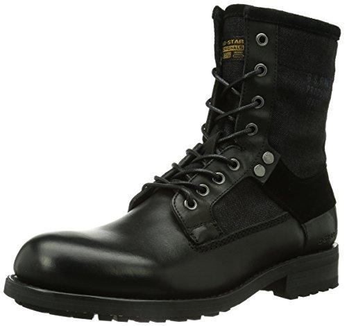Botas de cuero para hombre, color negro, talla 46 EU (12 Herren UK). O
