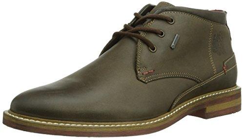 Botas de cuero para hombre marrón marrón, color marrón, talla 43 1/3 E