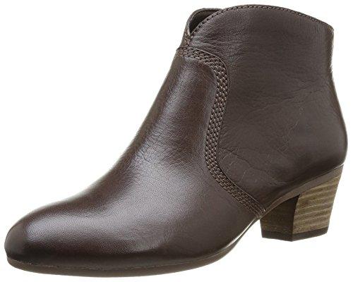 Botas de cuero mujer, Brown Leather, 42
