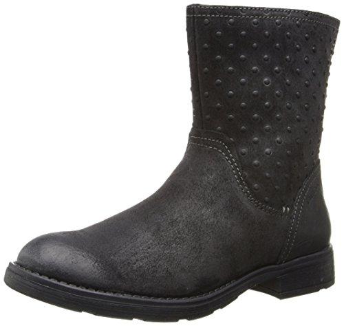 Botas de cuero para niña, color negro, talla 39 EU (6 Kinder UK). Sald